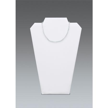 Μπούστο παρουσίασης για κολιέ 32x22cm-Λευκή Δερματίνη