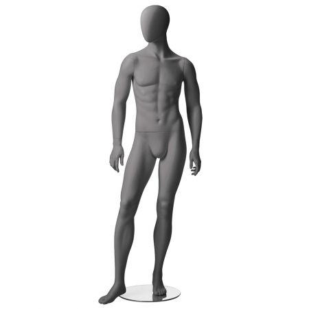 Ανδρική Κούκλα Βιτρίνας με Αφαιρετικό Κεφάλι 188cm - Position 3