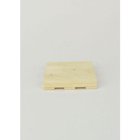 Διακοσμητικό Ξύλινο Σουβέρ-Πάλετα 8x8x1.5cm