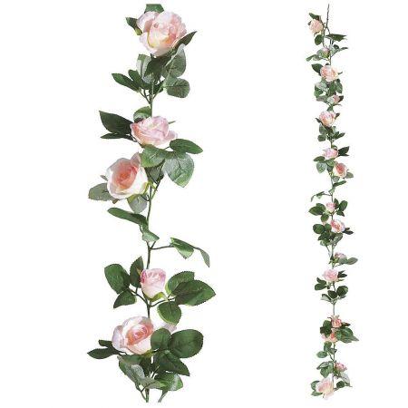 Διακοσμητική γιρλάντα ανοιξιάτική με τριαντάφυλλα,  180cm