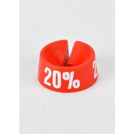 20% Σετ 25τμχ Σήμανση Προσφορών Κόκκινο-Λευκό