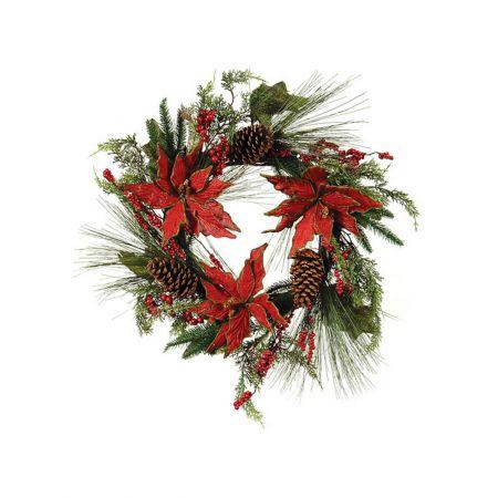 Στεφάνι Χριστουγεννιάτικο με στολισμό 60cm