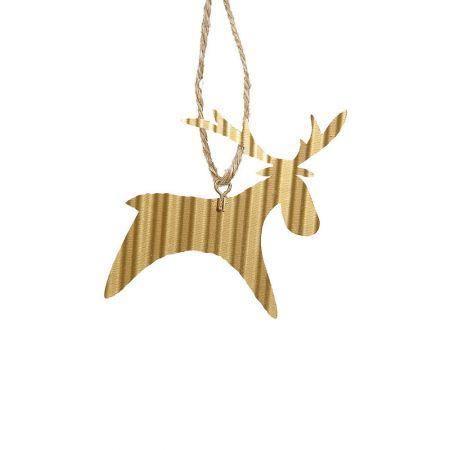 Μεταλλικό στολίδι ταρανδάκι Χρυσό  8cm