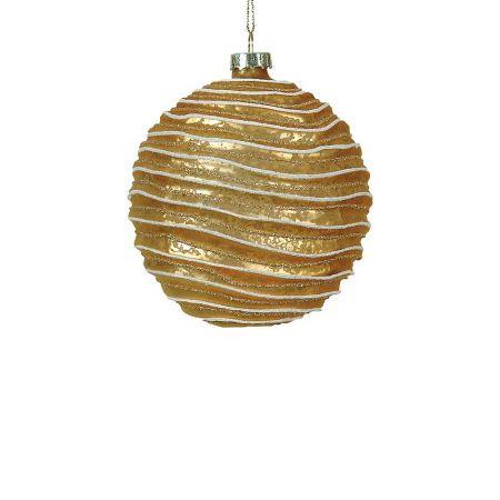 Χριστουγεννιάτικη μπάλα γυάλινη Χρυσή 8cm