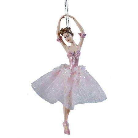 Διακοσμητική Μπαλαρίνα Ροζ 17x10x6cm