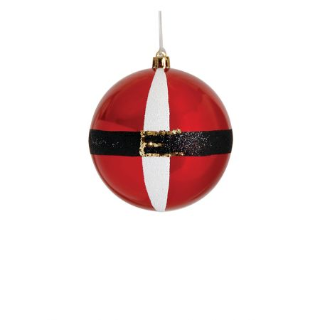 Χριστουγεννιάτικη μπάλα πλαστική Κόκκινη γυαλιστερή 8cm