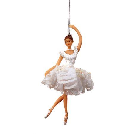 Διακοσμητική Μπαλαρίνα Λευκή 17x10x6cm