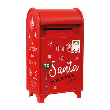 Χριστουγεννιάτικο μεταλλικό γραμματοκιβώτιο - Letters to Santa Κόκκινο (μεγάλο) 34x21x61cm