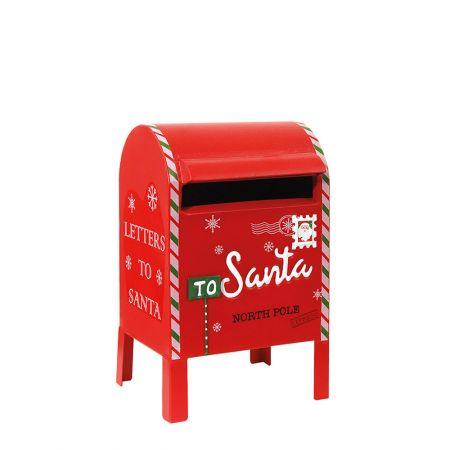 Χριστουγεννιάτικο μεταλλικό γραμματοκιβώτιο - Letters to Santa Κόκκινο (μικρό) 20x18x33cm
