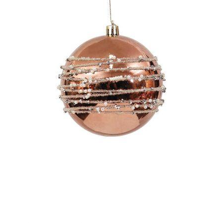 Χριστουγεννιάτικη μπάλα με Μπρονζέ 8cm