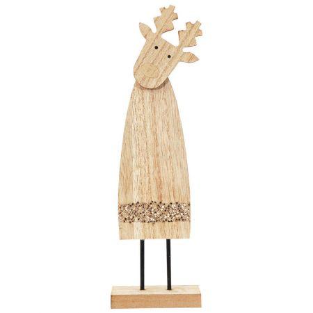 Επιτραπέζιο ξύλινο ταρανδάκι (μεγάλο) 9x4x27cm