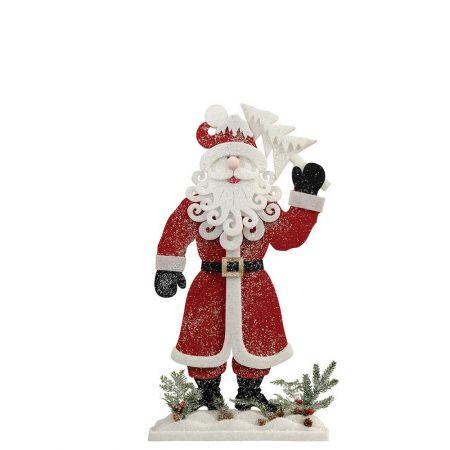 Διακοσμητικός Άγιος Βασίλης με δεντράκι, 28x8x50cm