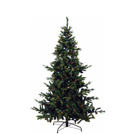 Χριστουγεννιάτικο δέντρο - PVC PE με κουκουνάρια 230cm