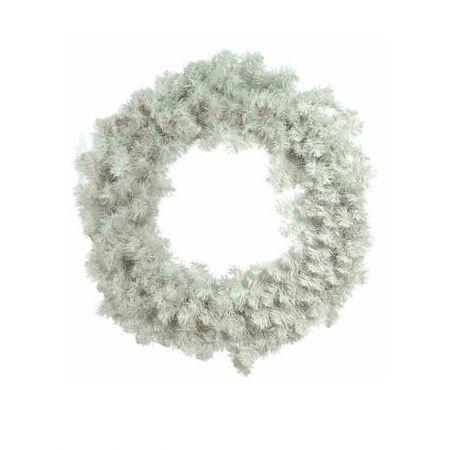 Χριστουγεννιάτικο στεφάνι PVC Λευκό 75cm