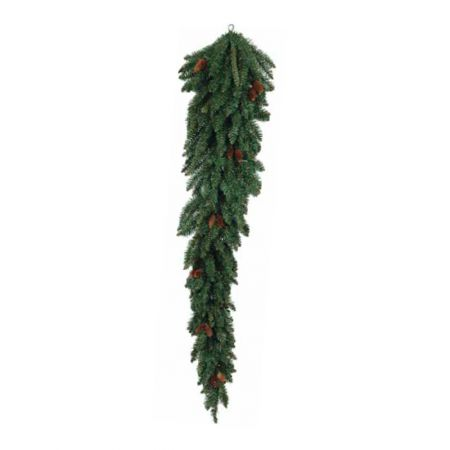 Κρεμαστό χριστουγεννιάτικο δέντρο τοίχου με κουκουνάρια 150cm