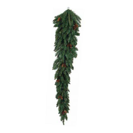 Κρεμαστό χριστουγεννιάτικο δέντρο τοίχου με κουκουνάρια 180cm