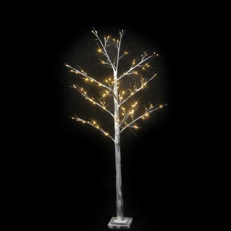 Φωτιζόμενο δέντρο Χριστουγέννων χιονισμένο 120LED 180cm