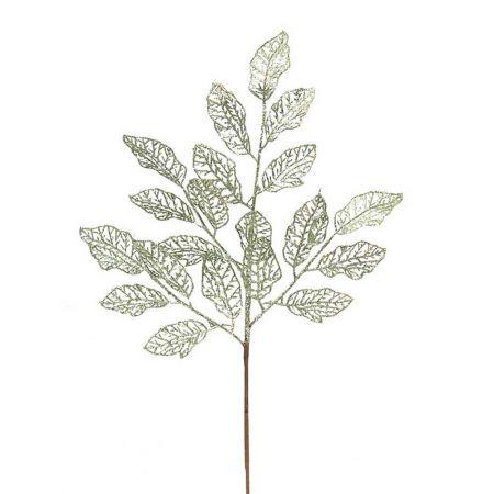 Χριστουγεννιάτικο κλαδί - φύλλα με glitter Πράσινο 66x29cm