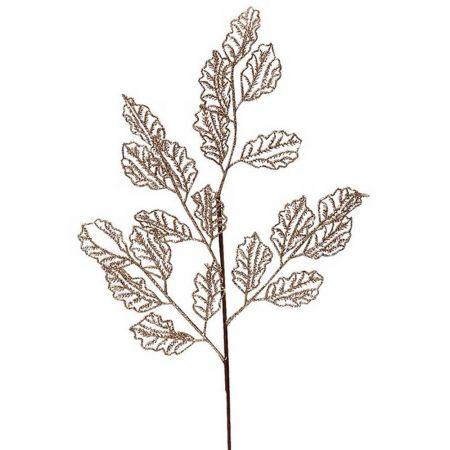 Χριστουγεννιάτικο κλαδί - φύλλα με glitter Σαμπανί 66x29cm