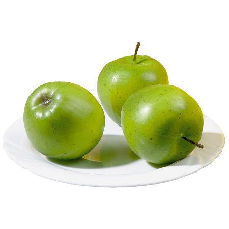 Σετ 3 τμχ Διακοσμητικά μήλα Πράσινα 7cm