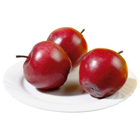 Σετ 3 τμχ Διακοσμητικά μήλα Κόκκινα 7cm