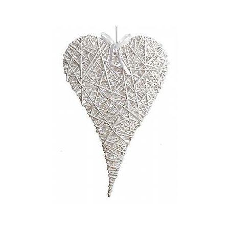 Διακοσμητική κρεμαστή καρδιά ψάθινη bamboo 60x100cm