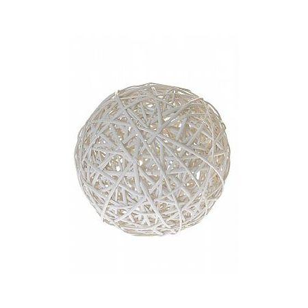 Διακοσμητική λευκή μπάλα μπαμπού 50cm