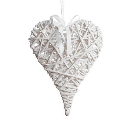 Διακοσμητική κρεμαστή καρδιά bamboo 30x40cm