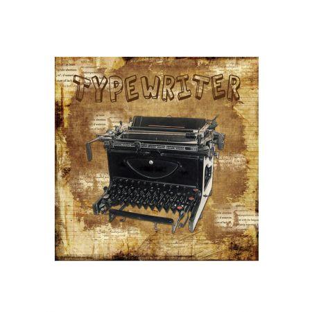 Διακοσμητικός Καμβάς Typewriter 40x40cm