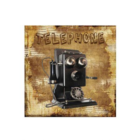 Διακοσμητικός Καμβάς - Telephone 40x40cm