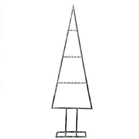 Μεταλλικό Χριστουγεννιάτικο δέντρο - σταντ Γκρι παλαιωμένο 150cm