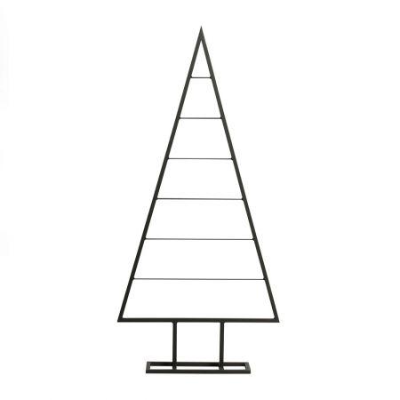 Μεταλλικό Χριστουγεννιάτικο δέντρο - σταντ Μαύρο 117cm