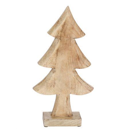 Διακοσμητικό επιτραπέζιο δεντράκι ξύλινο Φυσικό ξύλο 38,5cm