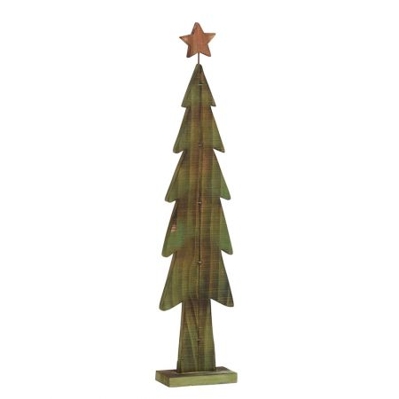 Διακοσμητικό Χριστουγεννιάτικο δέντρο Πράσινο με Κίτρινο αστέρι, 137cm