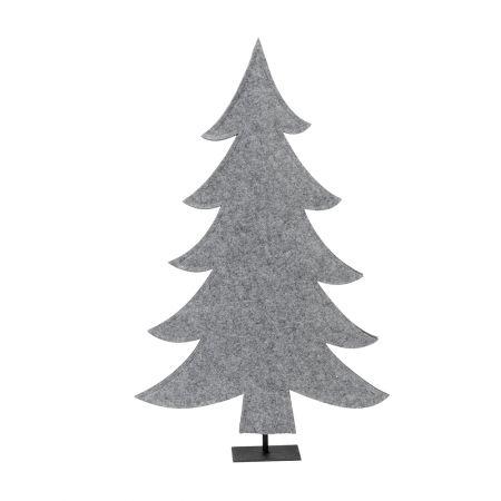 Διακοσμητικό δέντρο - έλατο από τσόχα Γκρι 45x72cm