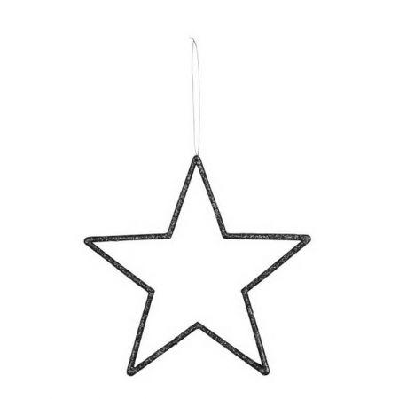 Διακοσμητικό κρεμαστό αστέρι PVC Μαύρο 32cm