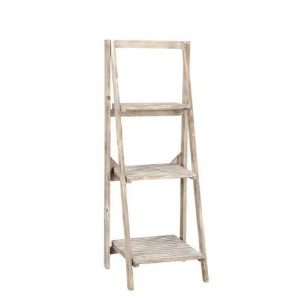 Διακοσμητική Σκάλα-Ραφιέρα Ξύλινη 44x42x115cm