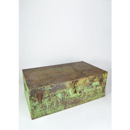 Διακοσμητική Βαλίτσα Μεταλλική Πράσινη 42x67.5x25cm