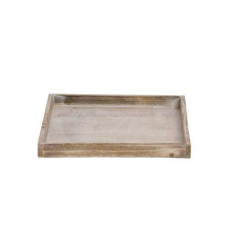 Διακοσμητικός ξύλινος δίσκος τετράγωνος 30x30x3cm