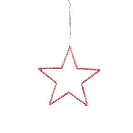 Διακοσμητικό κρεμαστό αστέρι PVC Κόκκινο 24,5cm