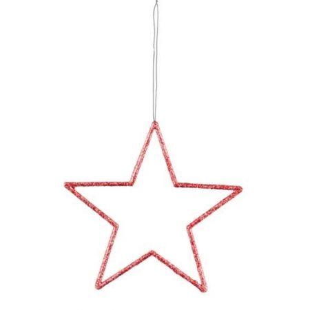 Διακοσμητικό κρεμαστό αστέρι PVC Κόκκινο 32cm