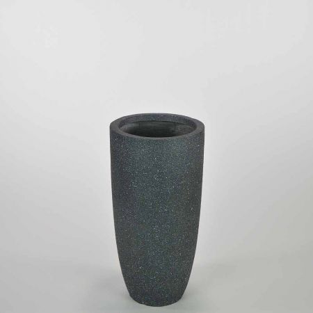 XL κυλινδρικό βάζο Ανθρακί 23,5x46,5cm