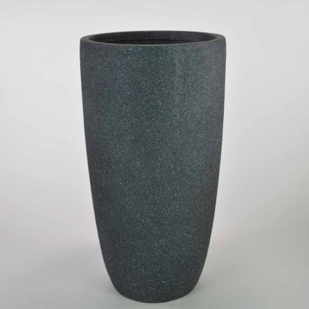 XL κυλινδρικό βάζο Ανθρακί 41x79,5cm