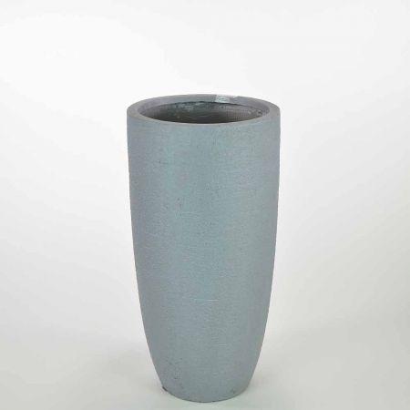 XL κυλινδρικό βάζο Γκρι 31,5x62,5cm