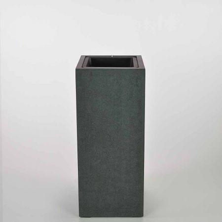 XL ορθογώνιο βάζο Ανθρακί 25,5x60cm