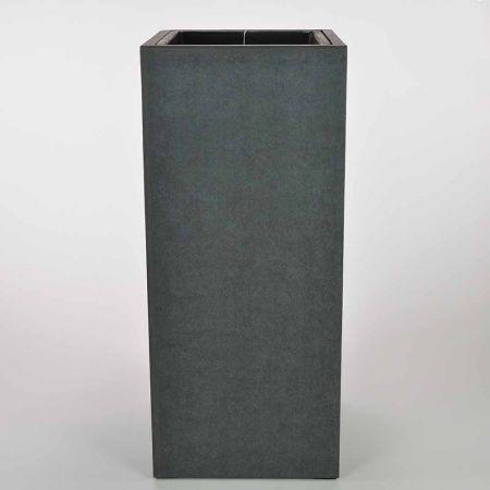 XL ορθογώνιο βάζο Ανθρακί 34,5x80cm