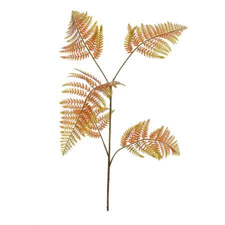Διακοσμητικό κλαδί φτέρης πράσινο - κίτρινο 110cm