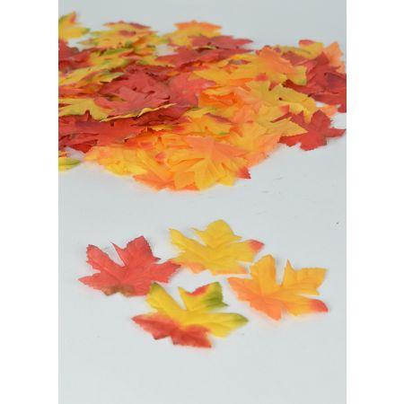 Σετ 95-100τχ Mini Διακοσμητικά Φθινοπωρινά φύλλα 7x6,5cm