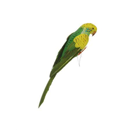 Διακοσμητικό παπαγαλάκι Parakeet Πράσινο 27cm