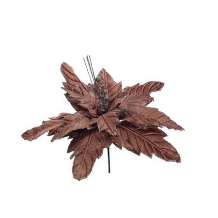Χριστουγεννιάτικο Αλεξανδρινό λουλούδι deluxe Σάπιο μήλο 32cm